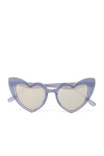 نظارة شمسية بإطار لامع على شكل قلب