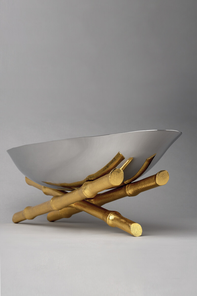 وعاء تقديم صغير بتصميم بامبو image number 2