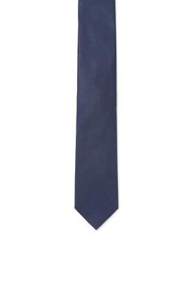 ربطة عنق حرير مزينة بنقش بارز الملمس