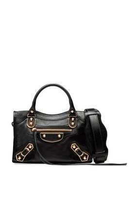 حقيبة يد سيتي ميني بتصميم كلاسيك لامع