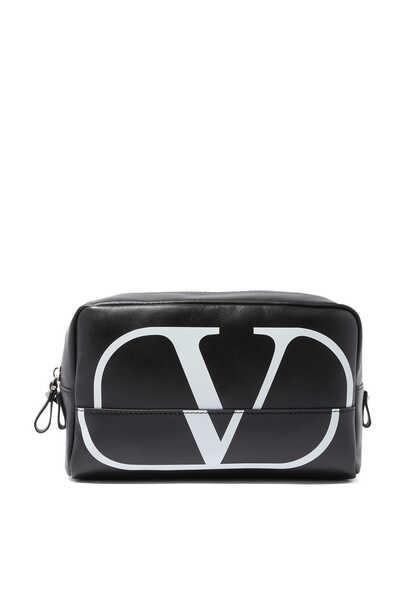 حقيبة فالنتينو غارافاني لمستحضرات العناية الشخصية بشعار الماركة