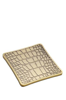 قواعد أكواب بنقشة جلد التمساح، 4 قطع