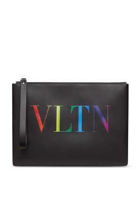 حافظة فالنتينو غارافاني جلد بشعار VLTN