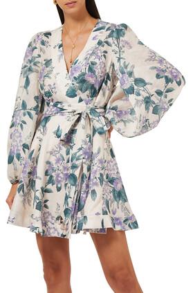فستان كاسيا قصير بتصميم ملفوف