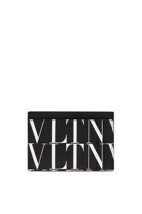 حافظة بطاقات بشعار VLTN بنقشة تايمز