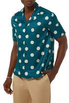 قميص حرير بتصميم منقط
