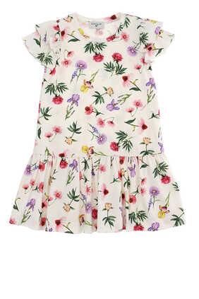 فستان بنقشة الزهور