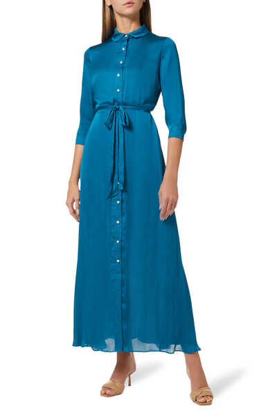 فستان سافانا ستان ناعم بنمط قميص طويل