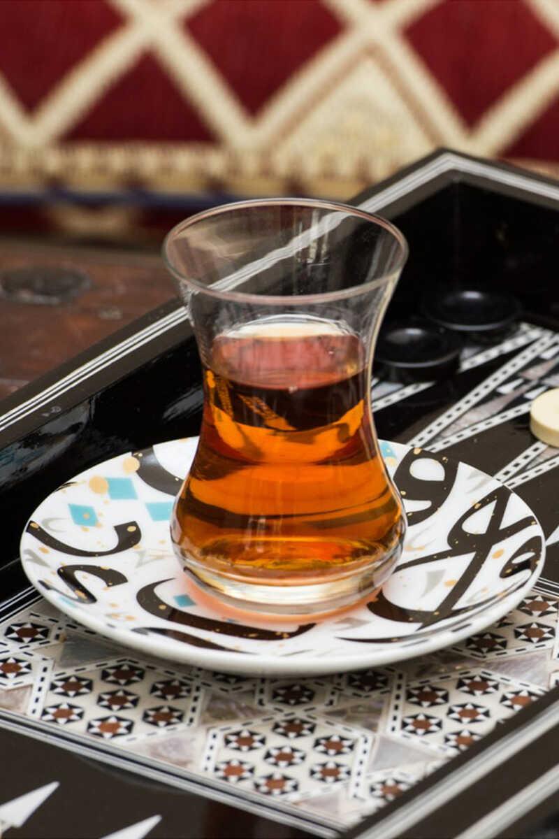 طقم فنجان شاي وطبق طراطيش، قطعتان image number 3