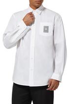 قميص قطن بشعار الماركة