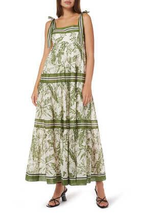 فستان إمباير بأربطة على الأكتاف