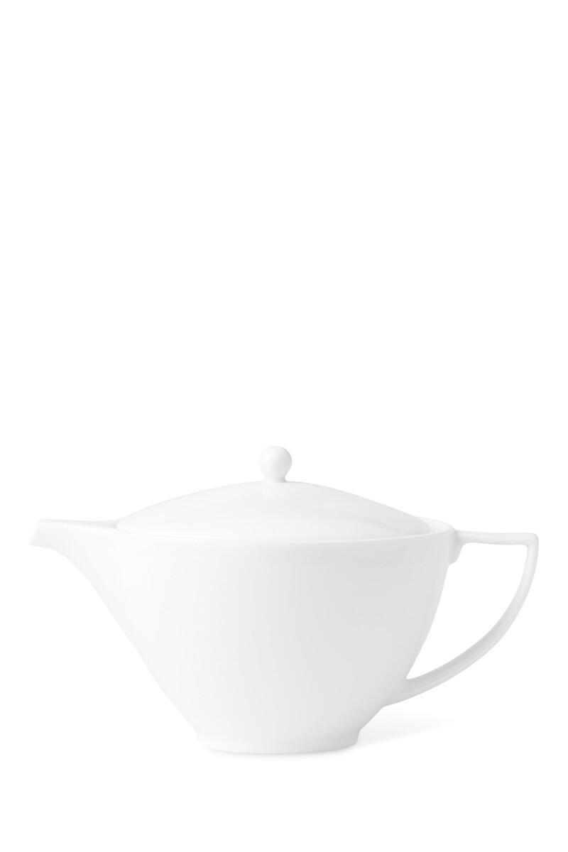إبريق شاي خزف صيني بتصميم بسيط 1.2 لتر image number 1