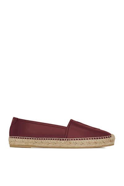 حذاء إسبادريل جلد بشعار الماركة