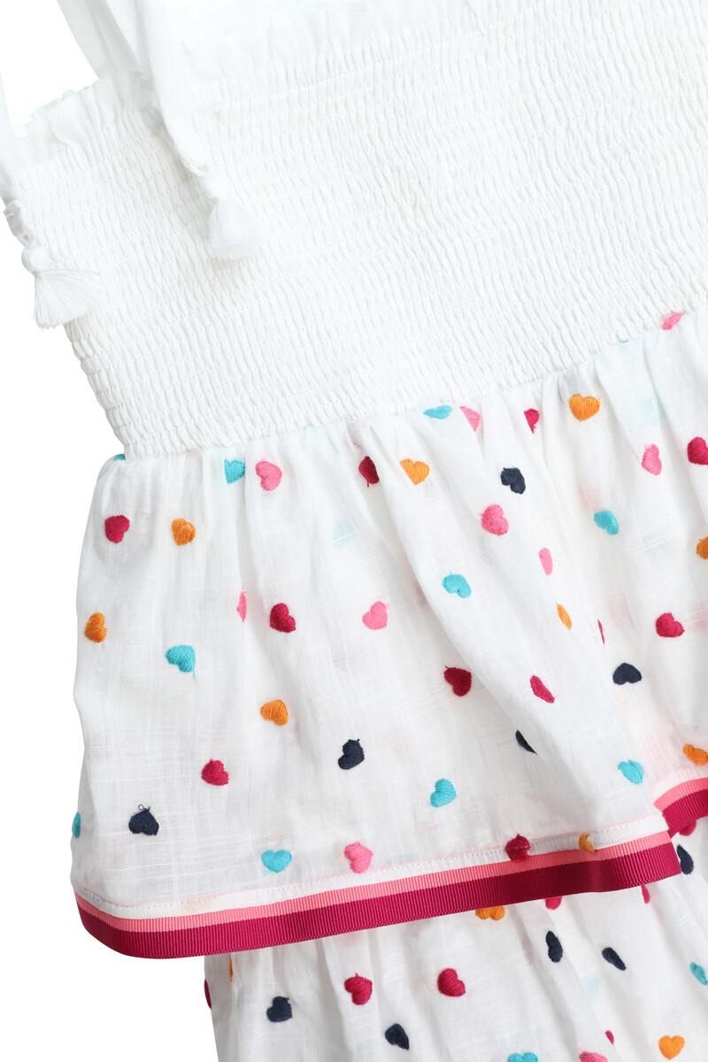 فستان بوبي بطبقات وكشكش مطاطي image number 2