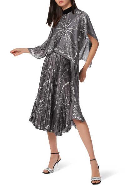 فستان ستان بنقشة باندانا