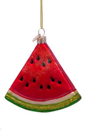 زينة بتصميم شريحة بطيخ لشجرة الكريسماس