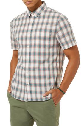 قميص بنقشة مربعات بألوان متعددة
