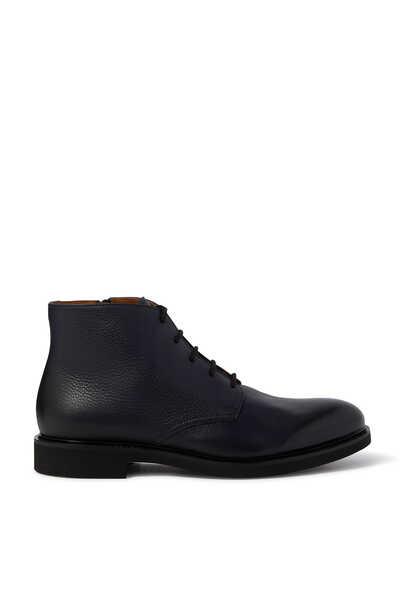 حذاء بوت جلد