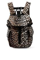 حقيبة ظهر بنقشة جلد الفهد