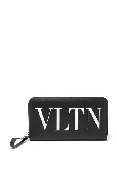 محفظة فالنتينو غارافاني كونتيننتال بسحّاب وشعار VLTN