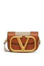 حقيبة كروس بشعار حرف V