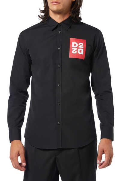 قميص بوبلين بطبعة D2
