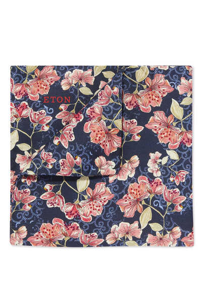 منديل جيب بنقشة زهور