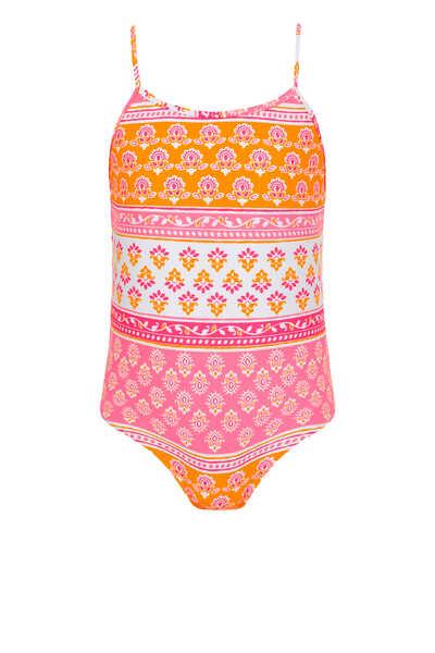 لباس سباحة بتصميم مقسم بألوان