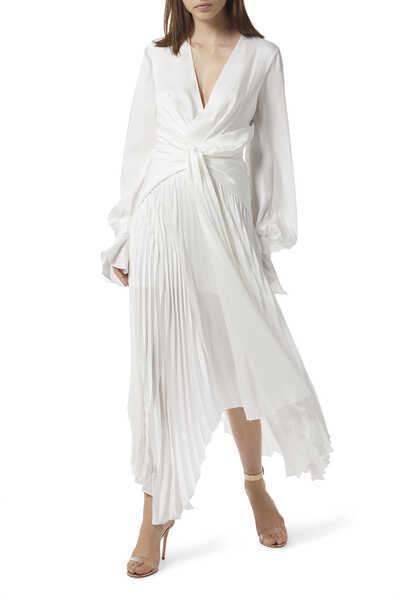 فستان إمباير بطيات