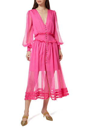 فستان مونلايت شيفون متوسط الطول