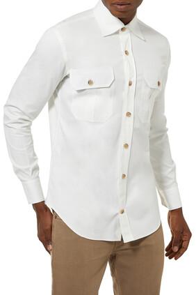 قميص قطن بتصميم عسكري