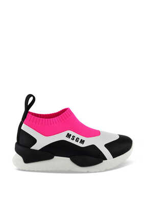 حذاء سهل الارتداء جلد وقماش
