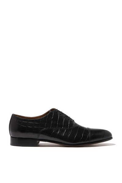 حذاء أكسفورد سباستيان بنقشة جلد تمساح