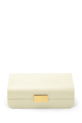 AE Jewelry Box Sml Modern Shagreen:Cream:One Size