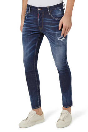 بنطال جينز سكيتر بلون داكن