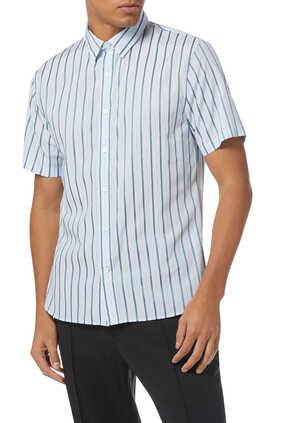 قميص من مزيج قطن بخطوط رأسية