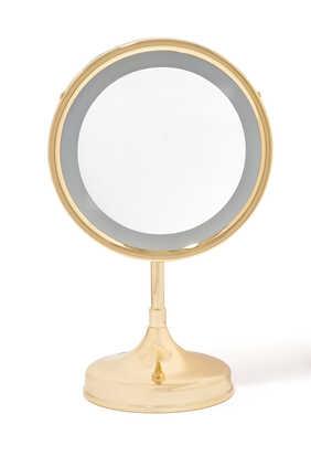 مرآة طاولة بمصباح