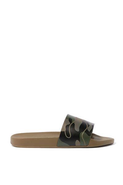 حذاء مفتوح مطاط بنقشة مموهة فالنتينو غارافاني