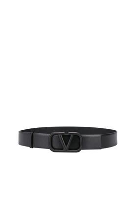 حزام فالنتينو غارافاني بشعار الماركة جلد
