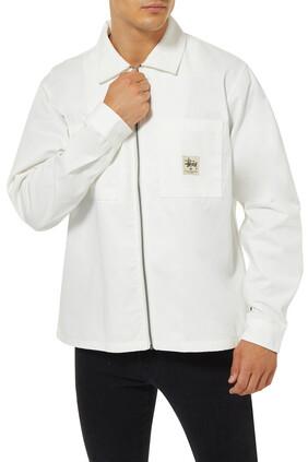 قميص بسحّاب وشعار الماركة