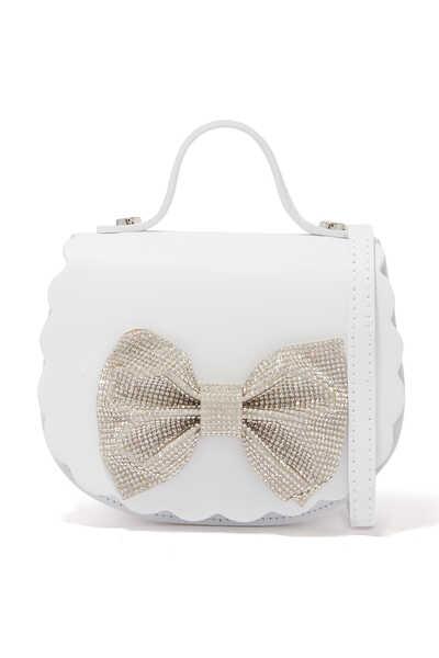 حقيبة جلد مزينة بعقدة