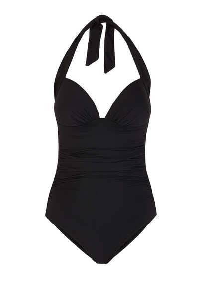 لباس سباحة قطعة واحدة بتصميم كشكش مستوحى من الخمسينيات
