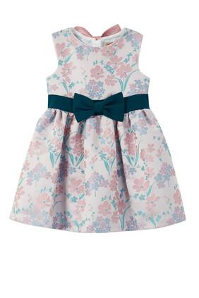 فستان بحزام مزين بعقدة