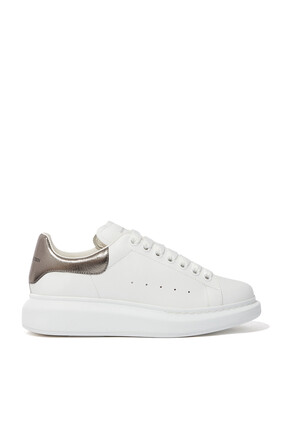 OVERSIZED LEATHER SNEAKERS:METALLIC:38