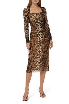 فستان شبكي بطبعة
