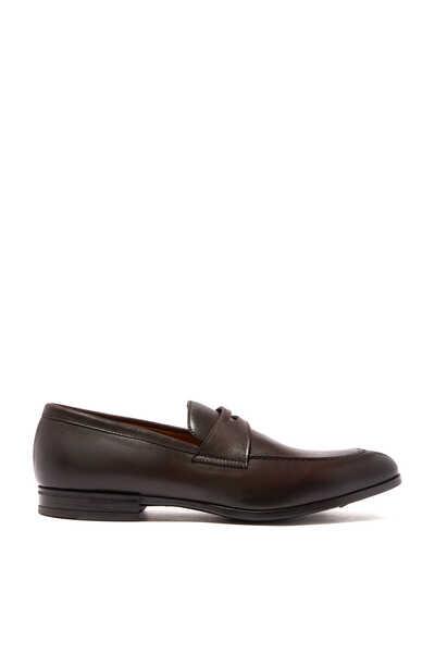 حذاء أوسلو سهل الارتداء جلد بشريط بيني