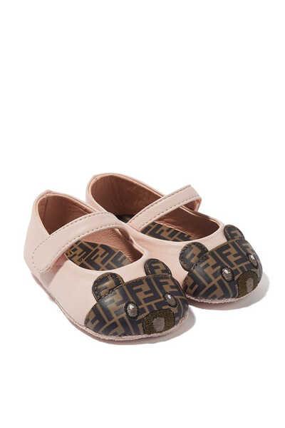 حذاء باليرينا برقعة دب