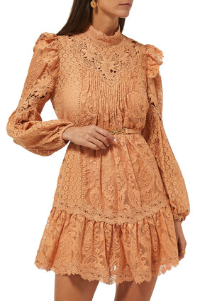 فستان كونسرت دانتيل بملمس بارز