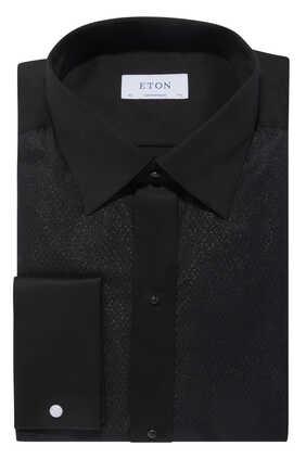 قميص توكسيدو بوصلة أزرار مزين بغليتر