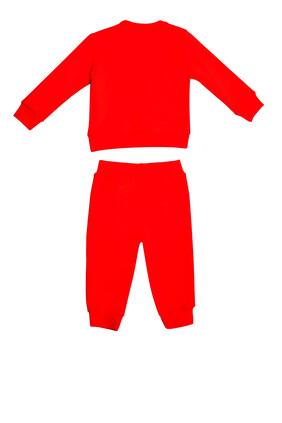 بدلة رياضية قطن بلون أحمر